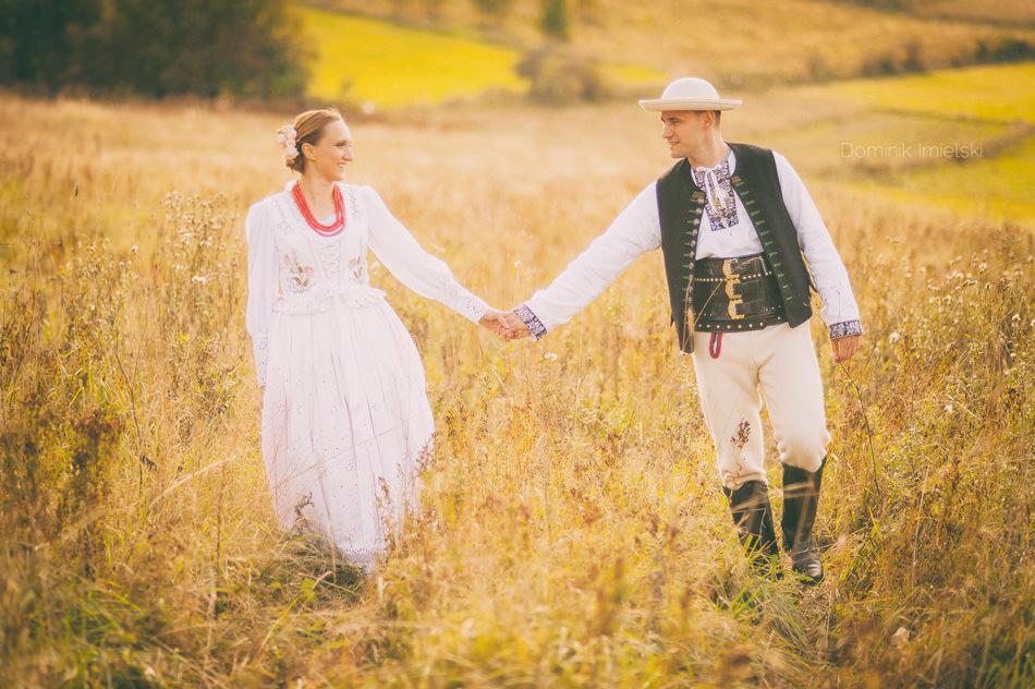góralski plener ślubny w żywcu